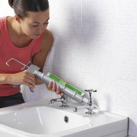 Polyblend tile caulk fits in a standard caulking gun.