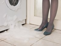 Washing machine leaks can damage the floor.
