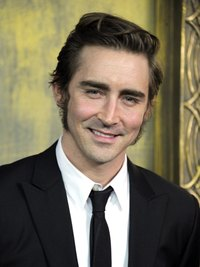 "Actor Lee Pace balances his long sideburns with a higher hairstyle at ""The Hobbit"" premiere in New York City."