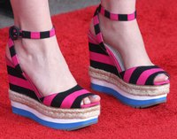 Trendy wedges can replace sandals or slippers.