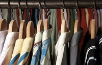 A closet pole full of clothes often needs extra support.