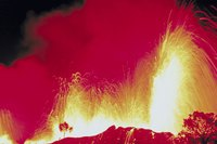 Eruptions at Kilauea are among the volcanic attractions in Hawaii.