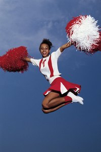 Pom poms are essential to any cheerleading costume.