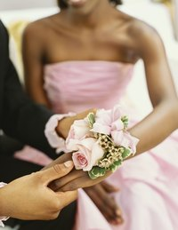 Wrist corsages are worn by women during special occasions.