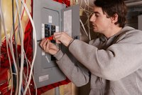 Electrical subpanels are often installed in barns and workshops.