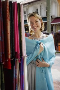 Wraps sold at a roadside stall could be cashmere or viscose.