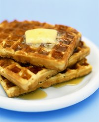Any kind of waffle can be made with Bisquick.