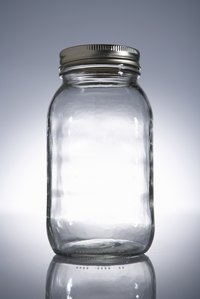 Mason jars are made from tempered glass that holds up well to heating and cooling.