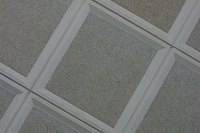 Coffered ceilings often look like crossing beams.