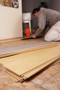 Gluing Laminate Floors Helps Keep Planks From Separating
