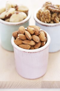 Pick unsalted, unroasted nuts on the Mediterranean diet.