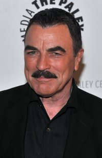Tom Selleck's famous mustache is always picture perfect.