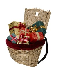 Baskets filled with non-perishable foods can be a group charity project for the needy.