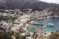 Avalon, Catalina Island, from the air.