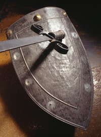 A sword and shield are essential accessories for a knight costume.