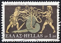Dress as Hercules, who defeated the Hydra.