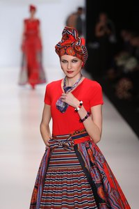 Choosing a gypsy-style hat, like this one by Slava Zaitsev, is a fab way to top off your boho chic ensemble.