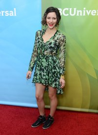 Try sneakers with a dress, like pop singer Katharine McPhee in Pasadena, California, in 2013.