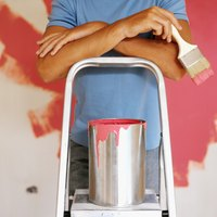 Make sparkly walls using shimmery wall paint.