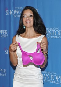 Model Adriana Lima with a Victoria's Secret bra...frequent sales can limit the price of such bras.