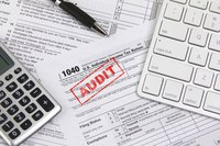 Close up of IRS tax forms