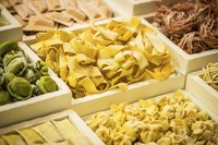 An assortment of frozen pastas.