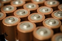 Close-up of batteries