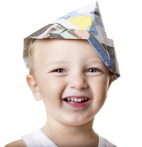 Children of all ages can fold paper into a Christopher Columbus hat.