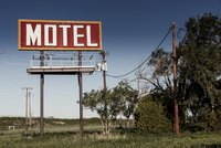 A sign for a rural motel.