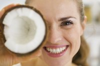 Natural oils found in coconuts can hydrate dry, flaky skin.