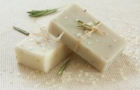 Natural handmade soap with salts