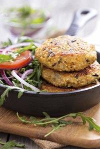 Order a veggie burger without the bun for a low-carb lunch.