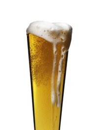 Beer stains leave little discoloration upon cleaning.