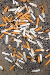 Cigarette ends are among the commonest types of litter.