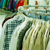 Organize and present clean, neat clothing in your flea market booth.