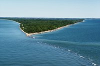 Sandusky's location along Lake Erie provides Great Lakes recreation opportunities.