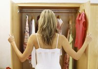 Organizing the closet can trim down time spent on dressing and getting out the door.