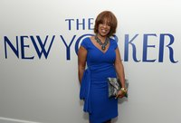 CBS morning news show co-host Gayle King wears a faux wrap to a pre-party for the 2013 White House Correspondents' Dinner.