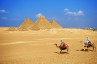 Dress for comfort and cultural sensitivity while touring the pyarmids in Egypt.
