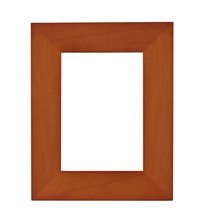 Use a wide wooden picture frame to make a shadow box.