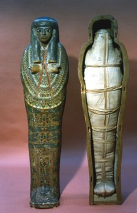 Use an image of a real mummy case as inspiration.