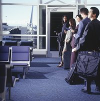 With overhead luggage space at a premium, pre-boarding is a benefit.