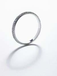 An eternity ring can be given to symbolize everlasting love.