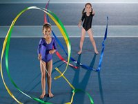 Take inspiration from rythmic gymnastics and make your own ribbon sticks.