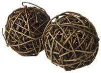 Wicker balls can be altered to fit the decor of your wedding.