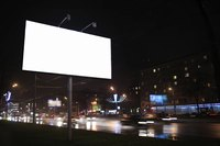 Advertising billboard in a major city.