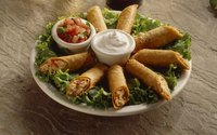Serve taquitos with salsa and sour cream for dipping.