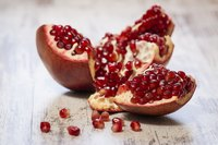 An opened pomegranate.