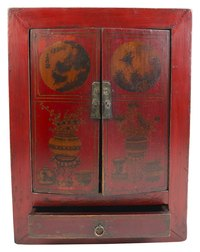 Red Chinese lacquer work was once reserved for royalty.