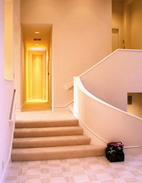 To safely access a sunken room, install a short stairway.